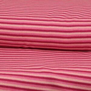 Fuchsia / Rosa 3mm Streifen Material: 95% Baumwolle 5% Elasthan
