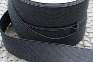 Gummiband schwarz Breite: 4 cm