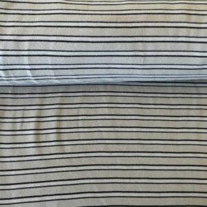 grau / schwarz 3mm Streifen Material: 95% Baumwolle 5% Elasthan