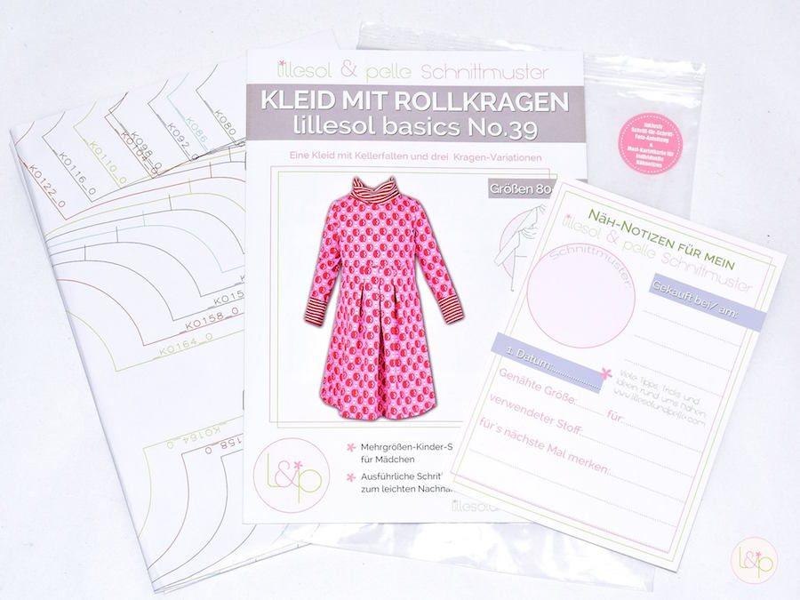 Schnittmuster lillesol basics No.39 Kleid mit Rollkragen ...