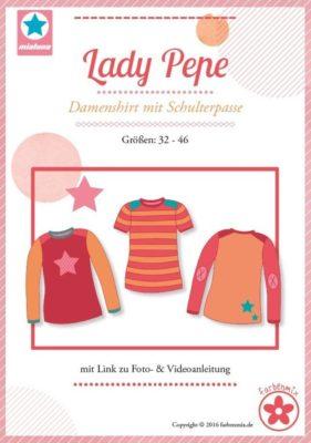 Papierschnitt Lady Pepe, Gr. 32 - 46