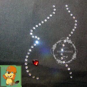 Strassbuegelbild Schwangerschaft Silhouette mit Herz