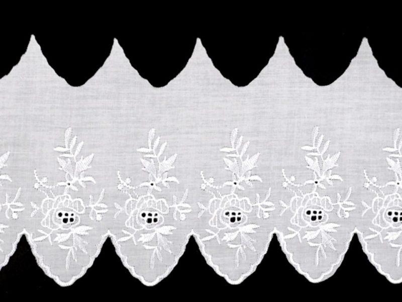 Madeira Spitze Breite 125 mm - weiß