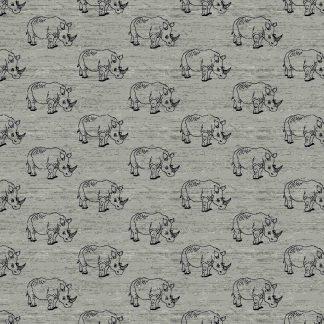 Sweat Nashorn - grau meliert