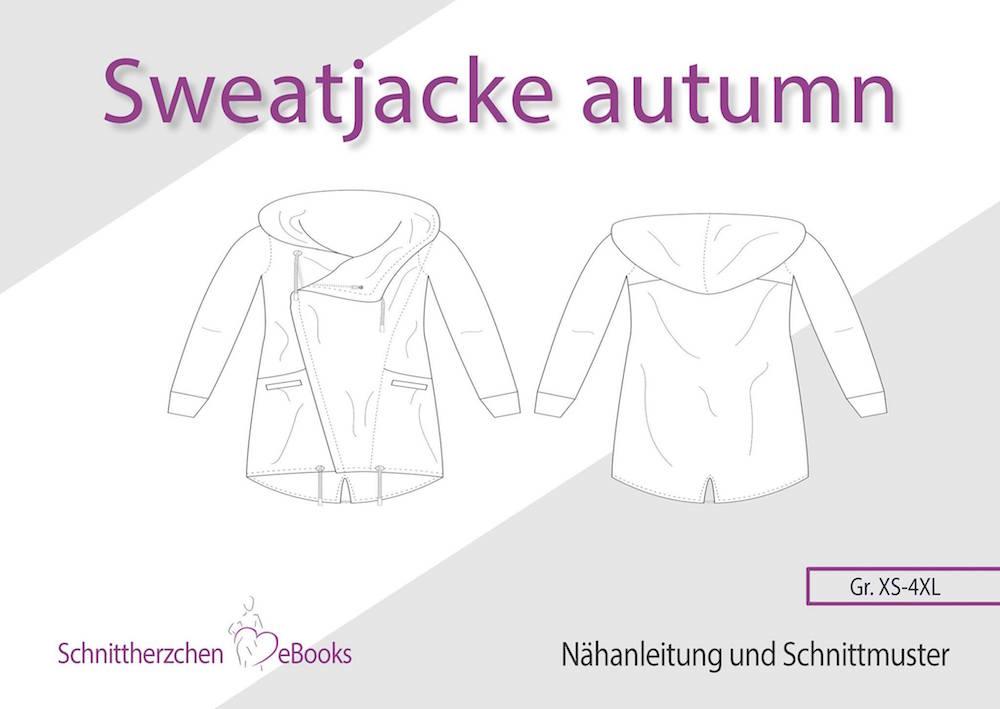 Sweatjacke Autumn Gr. 32-50 Schnittherzchen