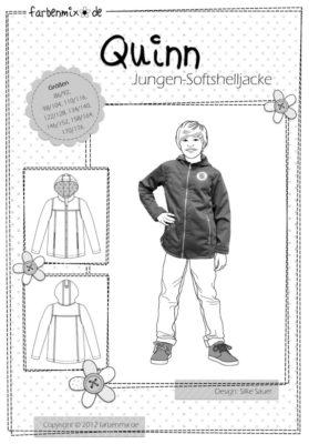 QUINN Softshell-Jacke Papierschnittmuster