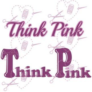 Think Pink Plotterdatei Pink Ribbon
