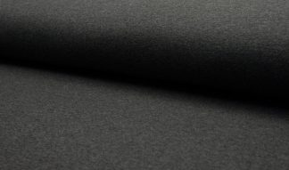 Kuschelsweat meliert - dunkelgrau