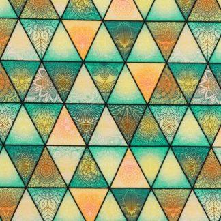 Jersey Bunte Dreiecke - grün