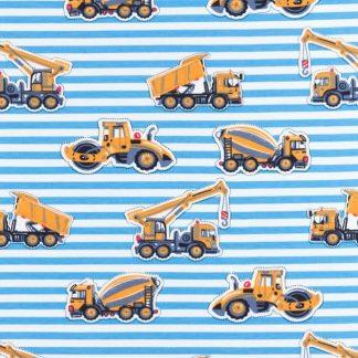 Jersey Baufahrzeuge Streifen - Aqua