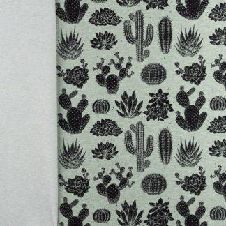 Sommersweat Kaktus - grün meliert