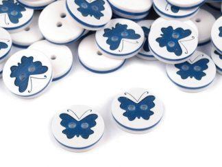 Knöpfe mit Schmetterlingen