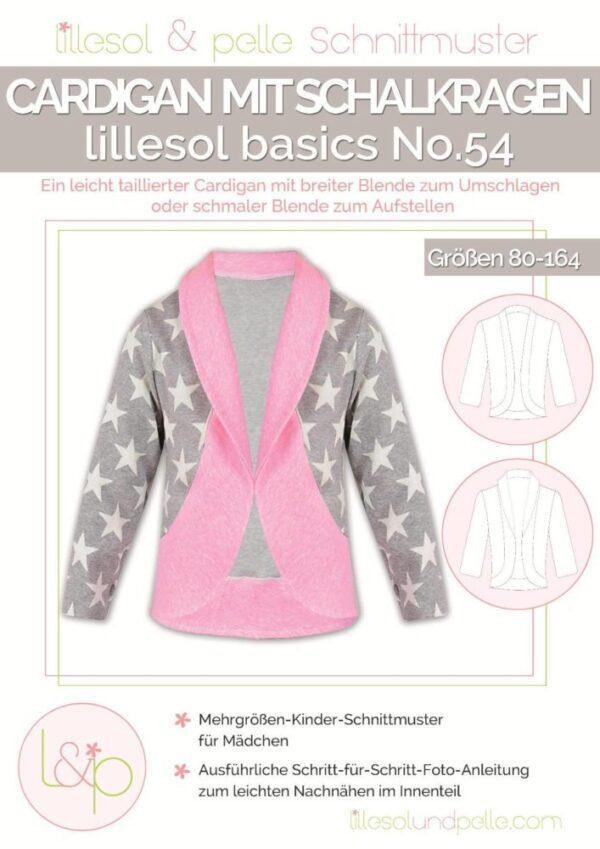 Papierschnittmuster lillesol basics No.54 Cardigan mit Schalkragen