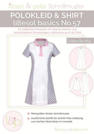Papierschnittmuster lillesol basics No.57 Polokleid & -Shirt