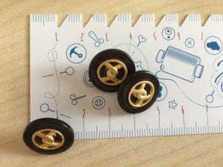 Knopf mit Goldschlaufe , 17 mm - braun