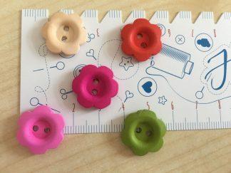 Dekoknöpfe Blumen , 17 mm - verschiedene Farben