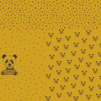 "Jersey Panel ""Mister Panda"" - senf"