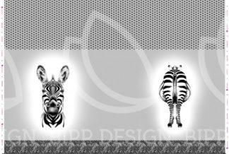 """Jersey Panel """"Zebra Bipp Design®"""" - grau"""