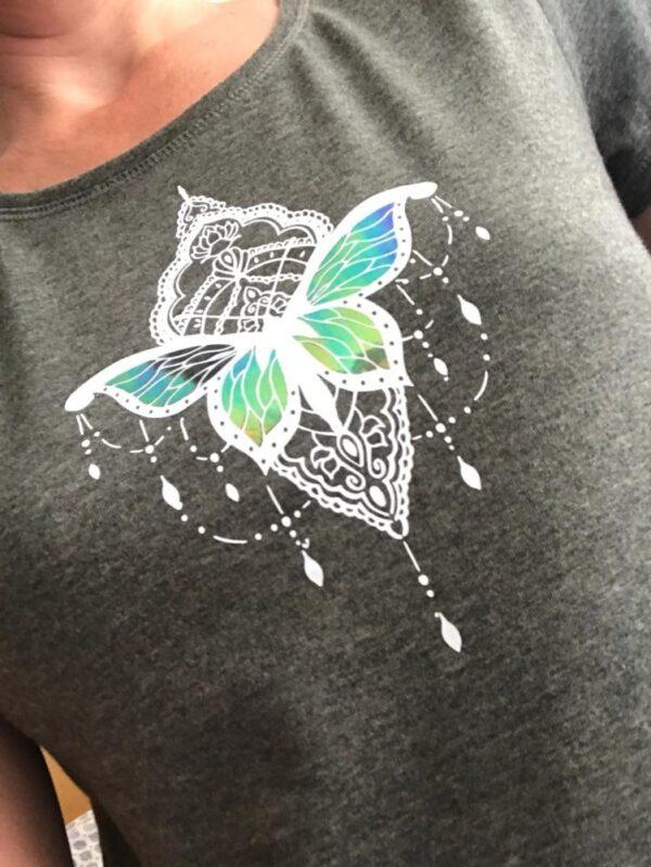 Tattoo love needle love effektfolie rainbow