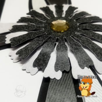 Biberwerke Trauerkarte Blume