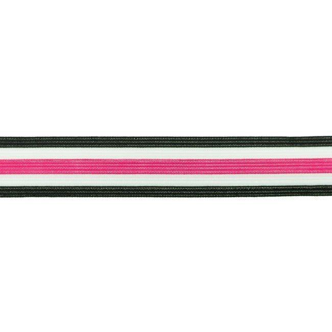 Retro Stripes - schwarz pink weiß - 30mm