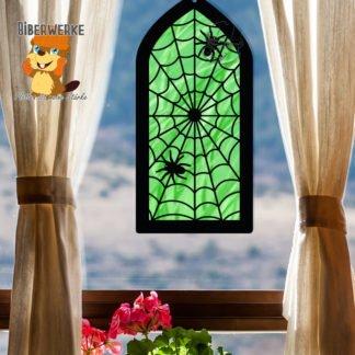 Biberwerke Fensterbild Spinnennetz2_small