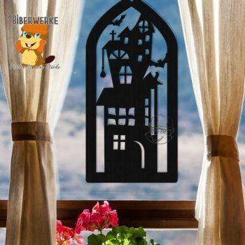 Biberwerke Fensterbild Spukhaus