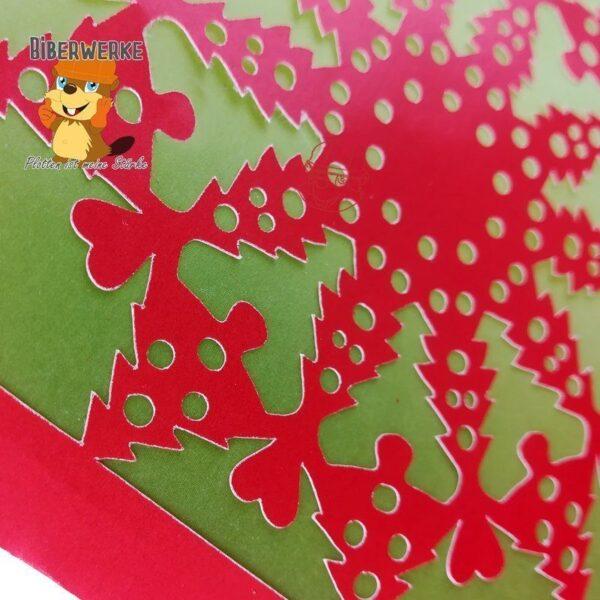 Biberwerke Grusskarte Weihnachtsornament