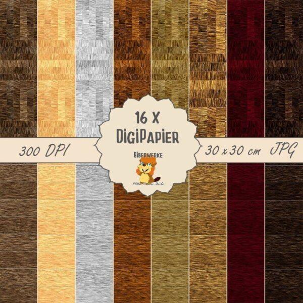 Biberwerke DigiPapier Holzpaket 2