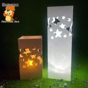Biberwerke Ruckzuck Windlicht Sterne
