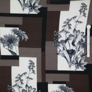 Viskose Jersey Block with Flowers