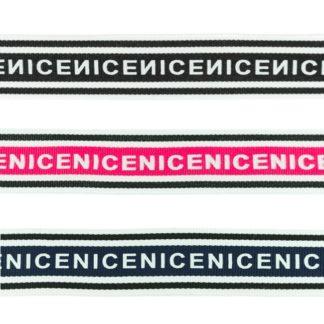 Ripsband / Retro Stripes - NICE - 30 mm (versch. Farben)