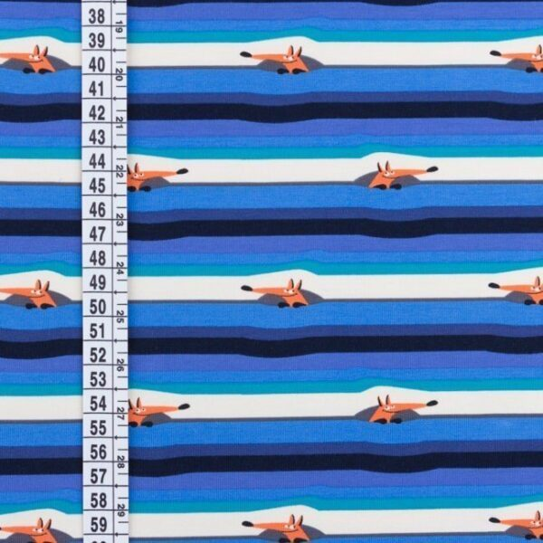 Jersey Fuchs - gestreift blau