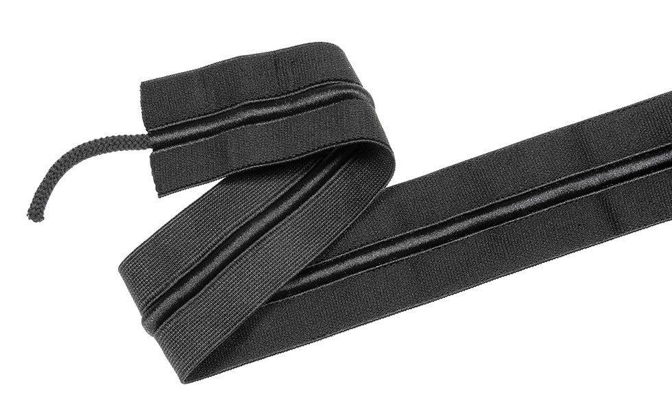 Bund-Gummi mit Kordelzug 50mm - schwarz