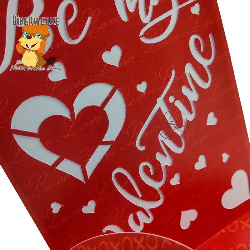 Biberwerke Grusskarte Be my Valentine
