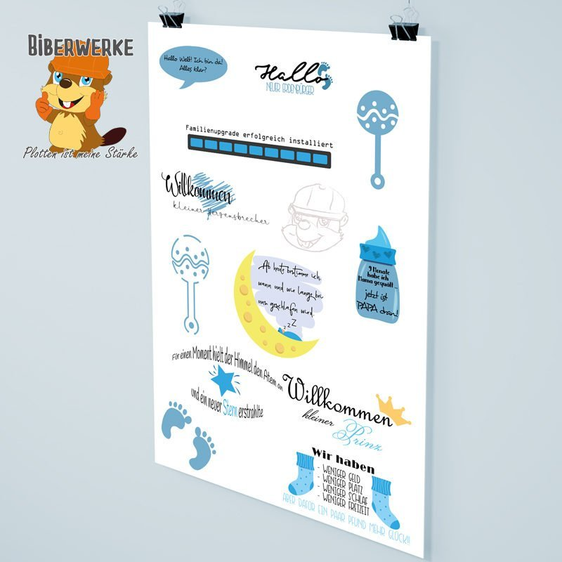 Biberwerke DigiStamps Baby Blau