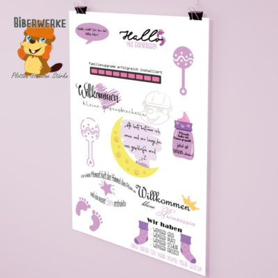 Biberwerke DigiStamps Baby Rosa