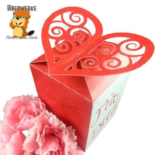 Biberwerke Geschenkbox Herzchen