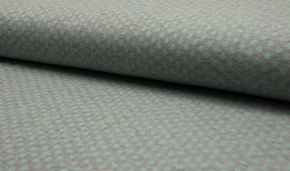Jaquard Bündchen / Jersey - Dots - mint