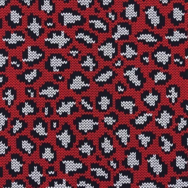 Jersey Knitted Panther - rot