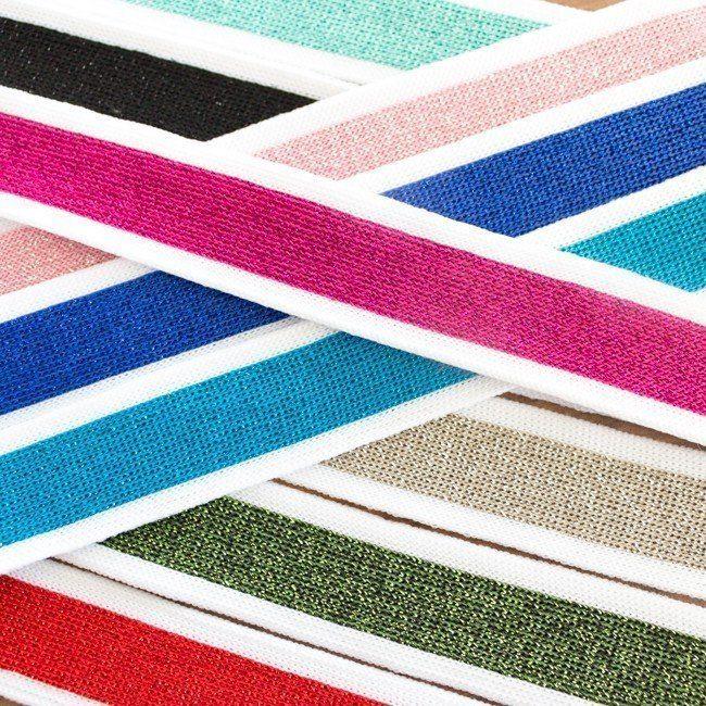 Glitzer retro stripes seitliche streifen