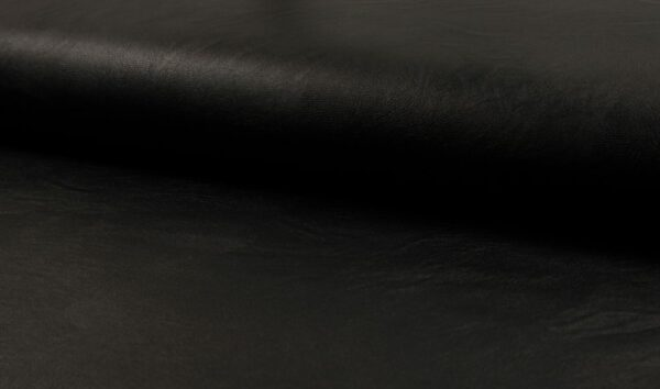 Kunstleder schwarz metallic