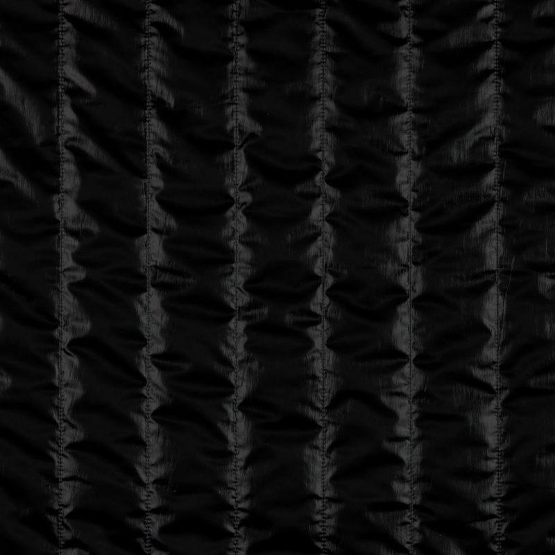 Metallic Steppstoff wattiert - schwarz
