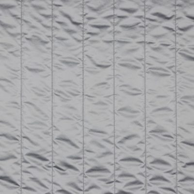 Metallic Steppstoff wattiert - silber