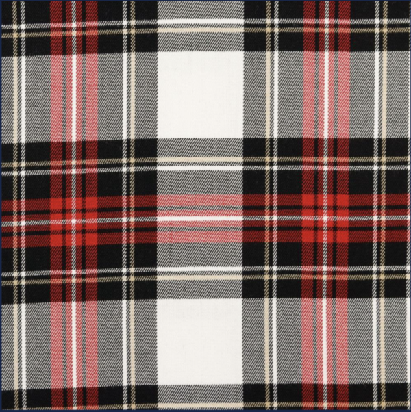 Glencheck Stretch - black / red