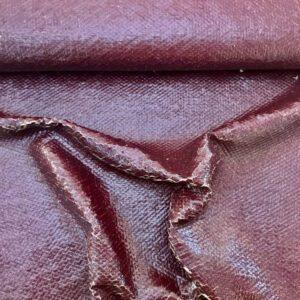 Jackenstoff SHINY SCALES - bordeaux