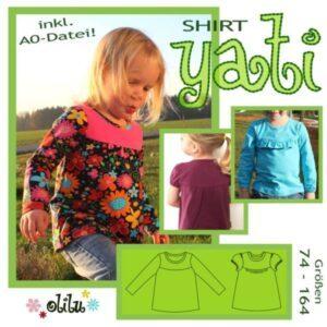 Schnittmuster Jerseyshirt Yati von olili