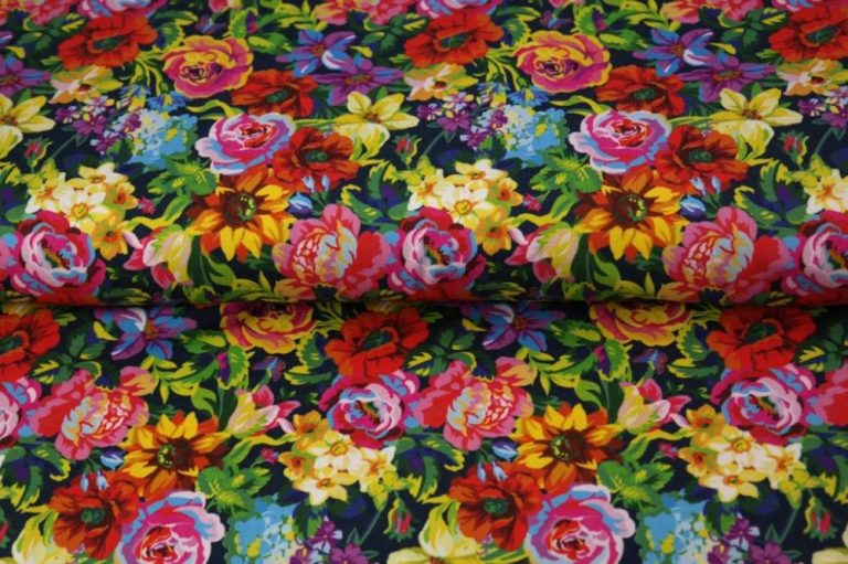 Sommer Sweat - Be your best Kombi Flowers – Ottobre - marine