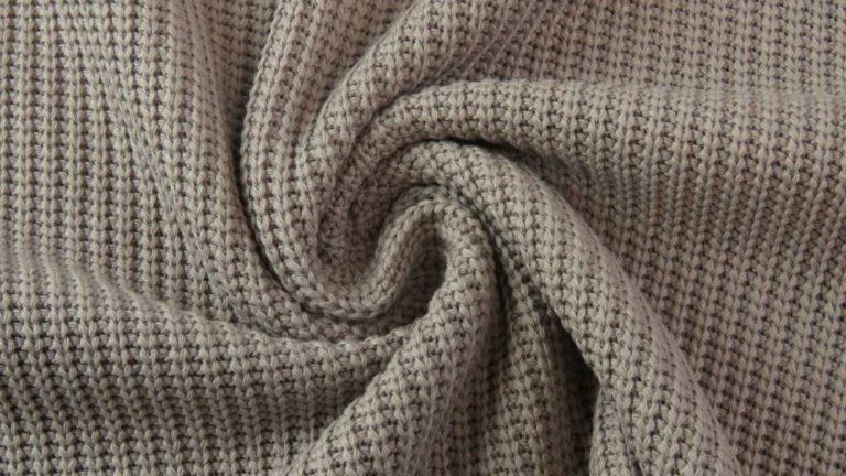Strickstoff Big Knit - taupe