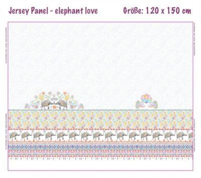 Jersey Panel - elephant love